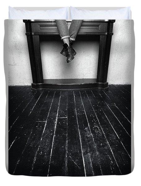 Black Shoes #9397 Duvet Cover