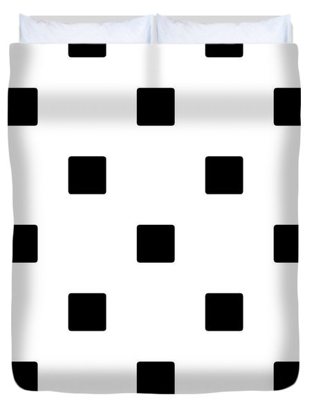 Black Squares On A White Background- Ddh574 Duvet Cover
