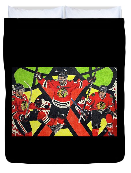 Blackhawks Authentic Fan Limited Edition Piece Duvet Cover