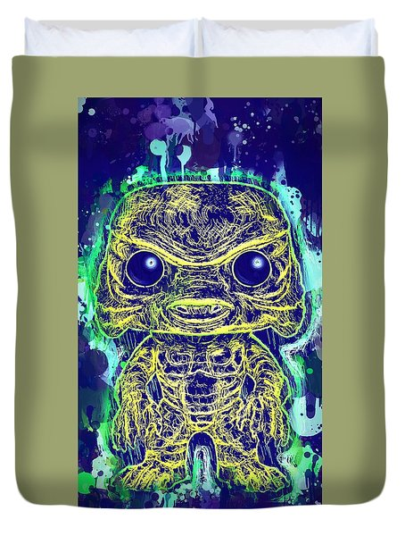 Creature From The Black Lagoon Pop Duvet Cover