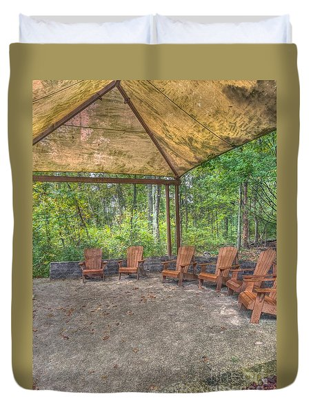 Blacklick Woods - Chairs Duvet Cover