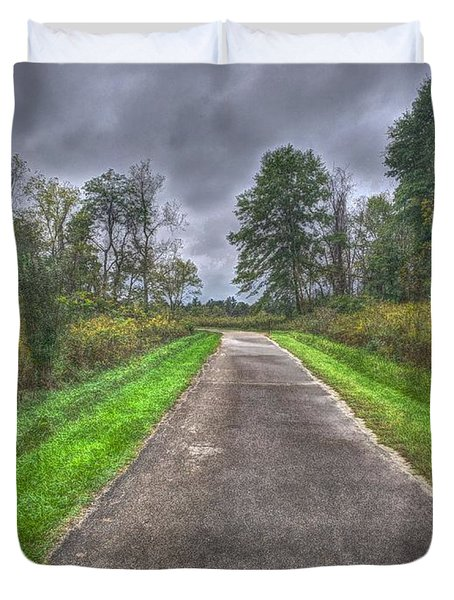 Blacklick Woods Pathway Duvet Cover