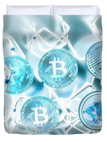 Blockchain Network Duvet Cover