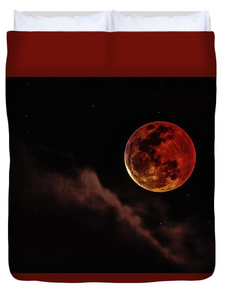 Blood Moon Rising Duvet Cover