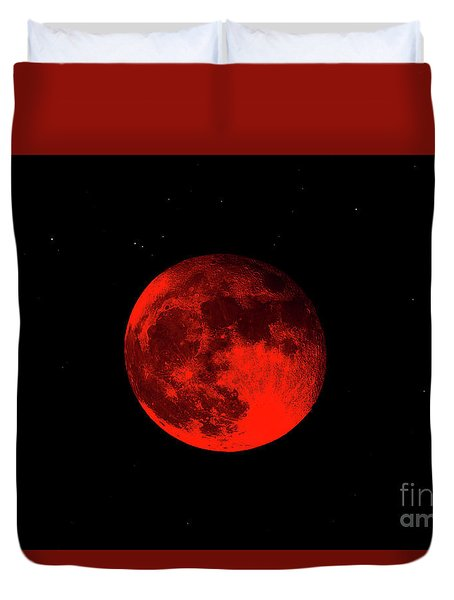 Blood Red Wolf Supermoon Eclipse 873a Duvet Cover