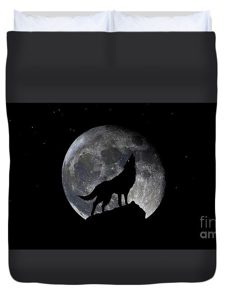 Pre Blood Red Wolf Supermoon Eclipse 873r Duvet Cover