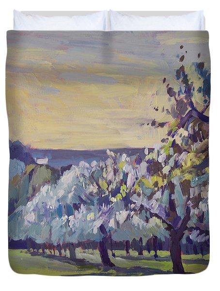 Blossom Trees Near Vijlen Duvet Cover