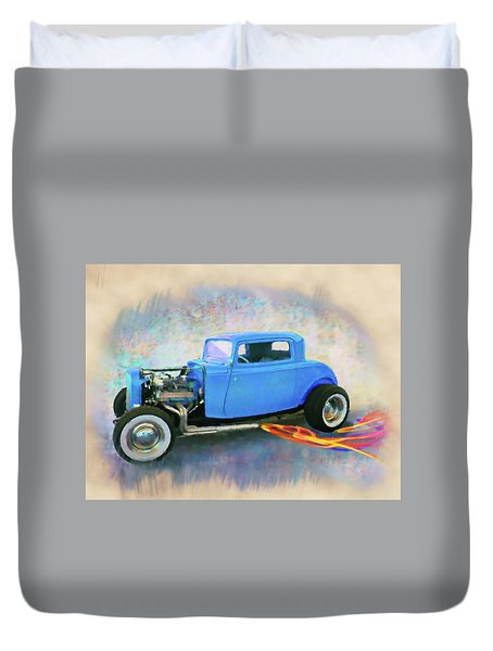 Blue 32 Ford Coupe Duvet Cover