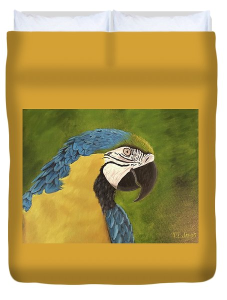 Blue And Gold Mccaw Duvet Cover