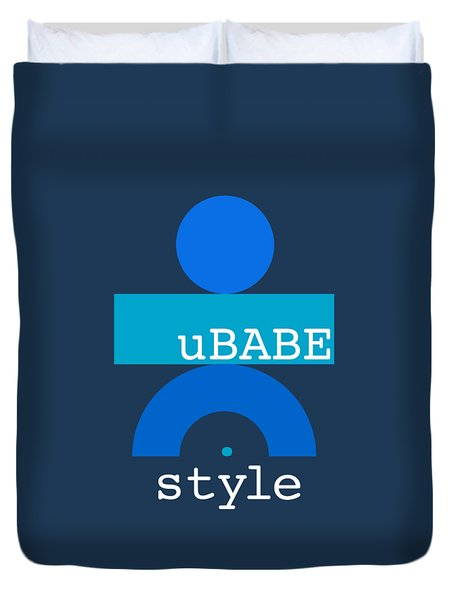 Blue Babe Duvet Cover