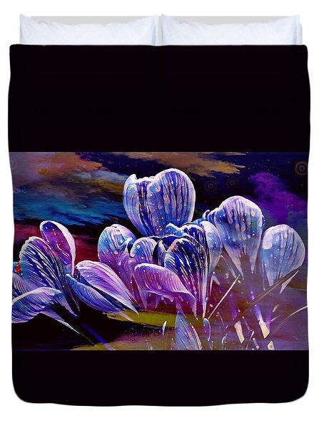 Blue Bloom Duvet Cover