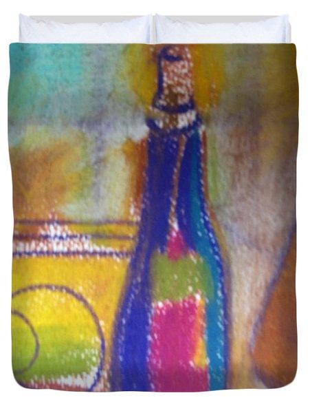 Blue Bottle Duvet Cover