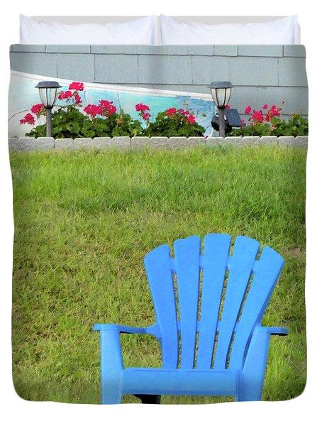 Blue Chair Duvet Cover