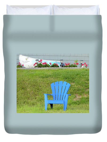 Blue Chair Duvet Cover