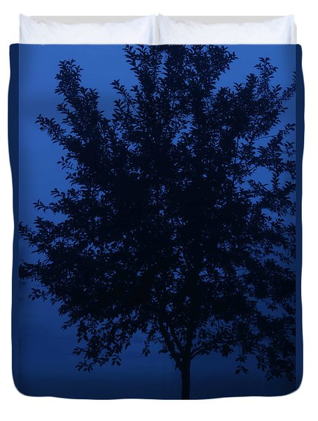 Blue Cherry Tree Duvet Cover