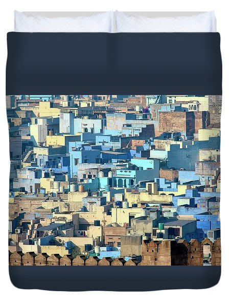 Blue City Vista Duvet Cover