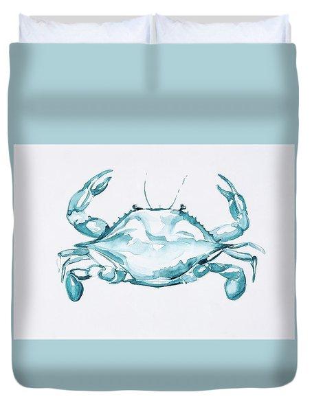Blue Crab Turcoise Duvet Cover