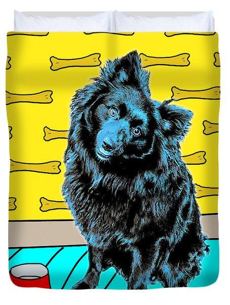 Blue Dog Duvet Cover