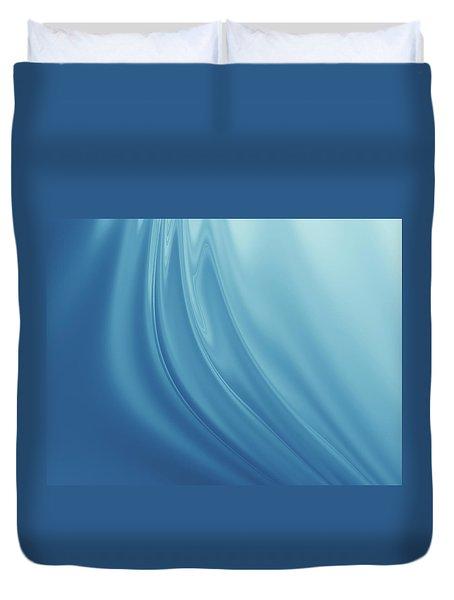 Blue Fabric Duvet Cover