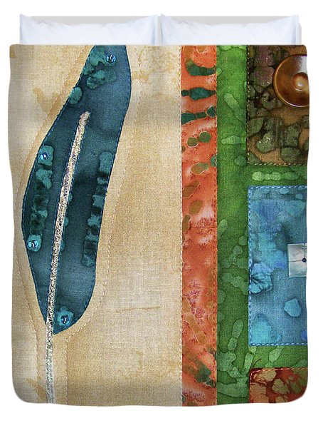 Blue Feather Duvet Cover