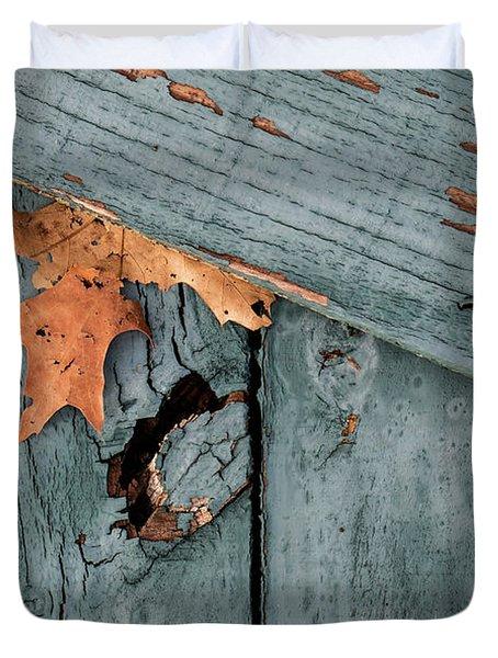 Blue Fence Duvet Cover