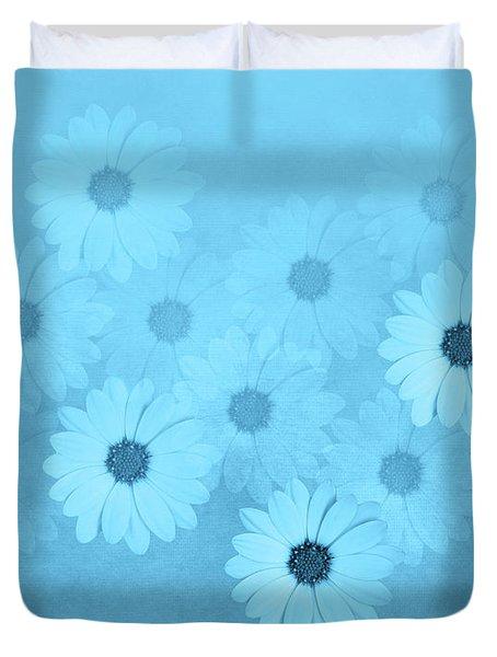 Blue Flower Harmony  Duvet Cover