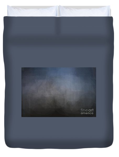 Blue Gray Abstract Background With Blurred Geometric Shapes. Duvet Cover