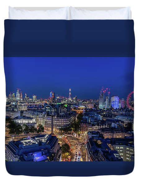 Duvet Cover featuring the photograph Blue Hour In London by Stewart Marsden