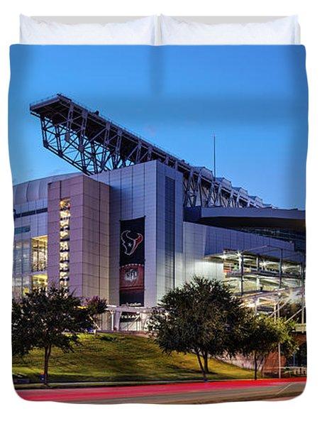 Blue Hour Photograph Of Nrg Stadium - Home Of The Houston Texans - Houston Texas Duvet Cover