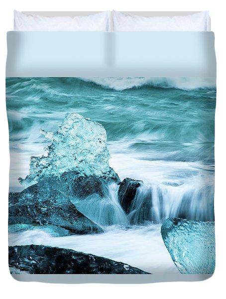 Blue Ice  Duvet Cover