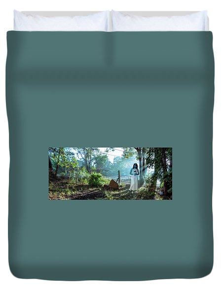Blue Lady Duvet Cover