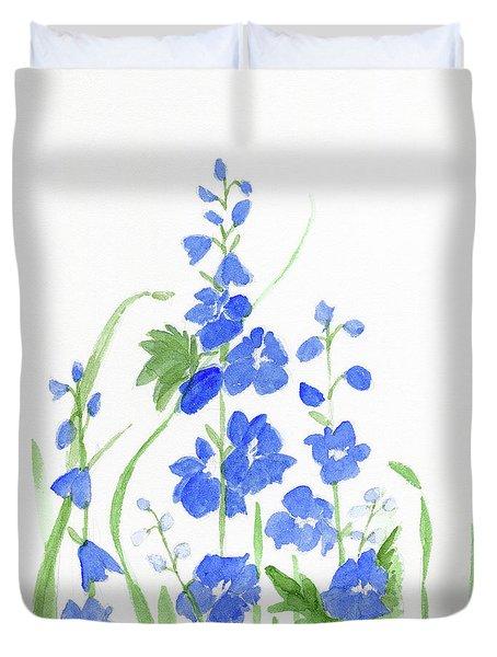 Blue Larkspur  Duvet Cover