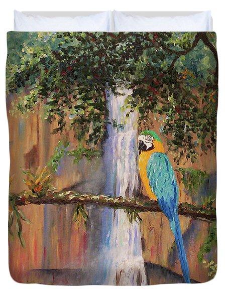 Blue Macaw Duvet Cover