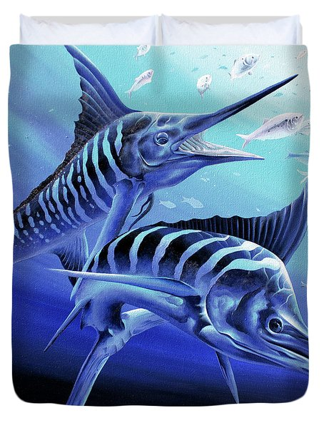 Blue Marlins Duvet Cover