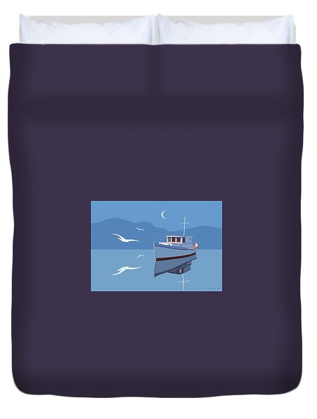 Blue Moon Duvet Cover