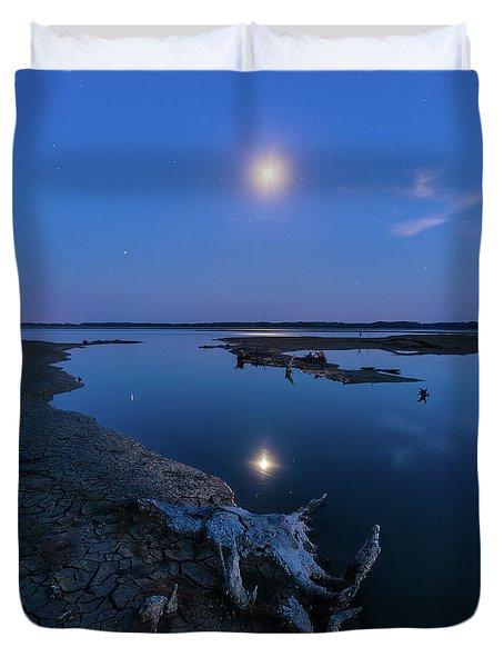 Duvet Cover featuring the photograph Blue Moonlight by Davor Zerjav