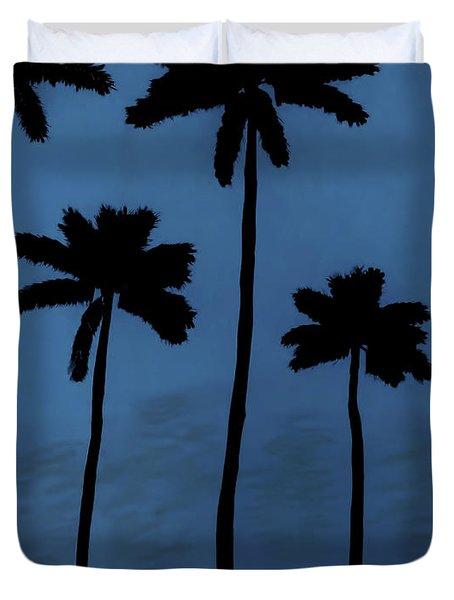 Blue - Night - Beach Duvet Cover
