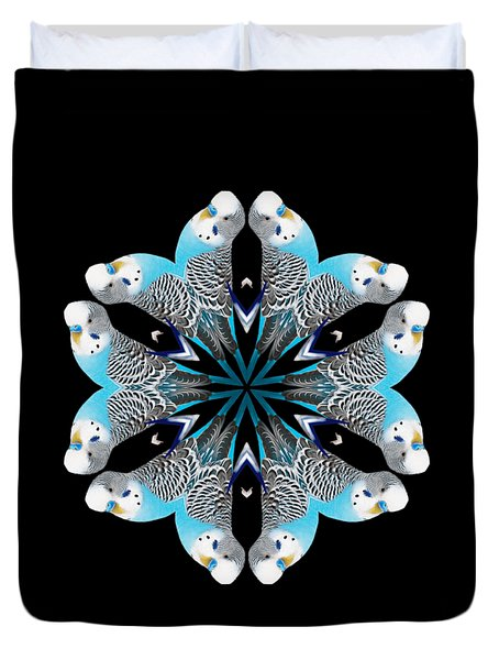 Blue Parakeet Mandala Duvet Cover