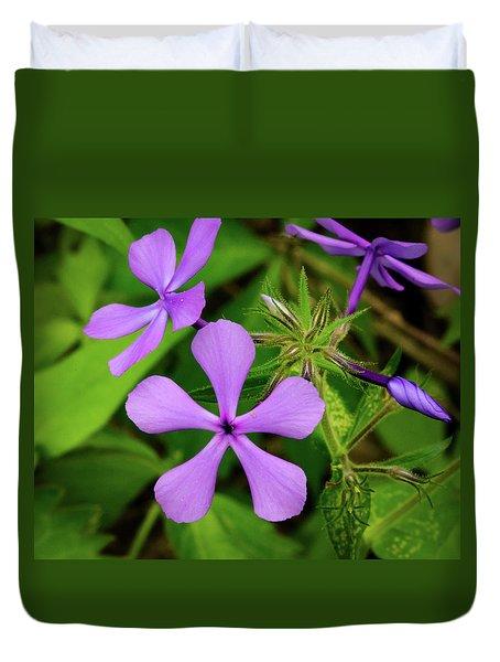 Blue Phlox Duvet Cover