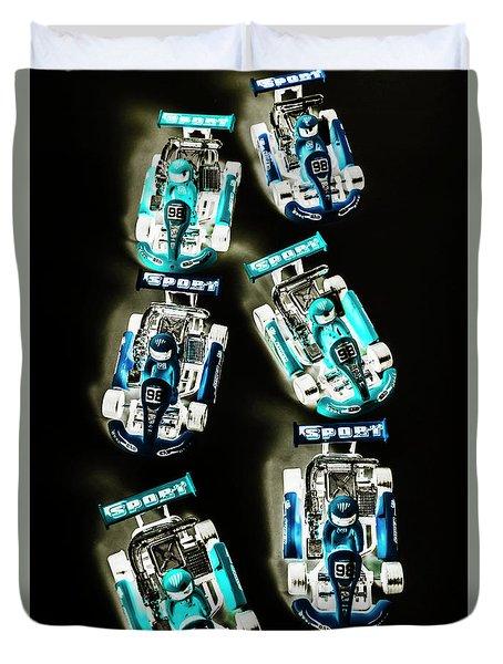 Blue Racers Duvet Cover