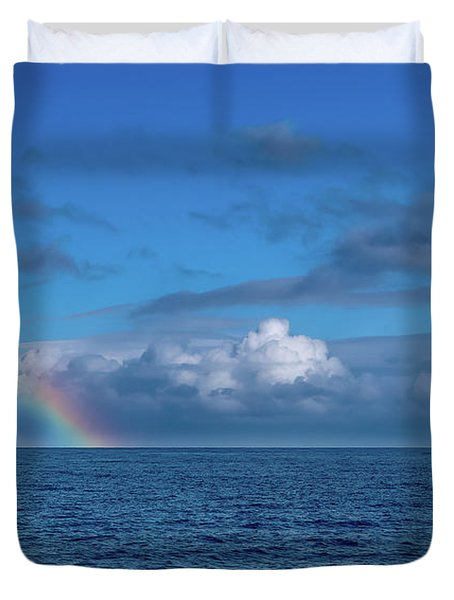Blue Rainbow Horizon Duvet Cover