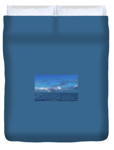 Blue Rainbow Horizon Duvet Cover