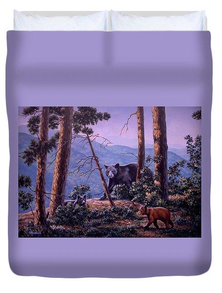 Blue Ridge Bears Duvet Cover