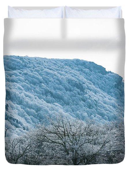 Blue Ridge Mountain Top Duvet Cover