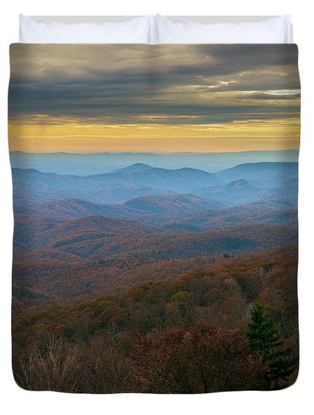 Blue Ridge Parkway - Blue Ridge Mountains - Autumn Duvet Cover