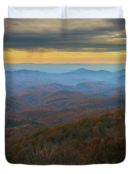 Blue Ridge Parkway - Blue Ridge Mountains - Autumn Duvet Cover