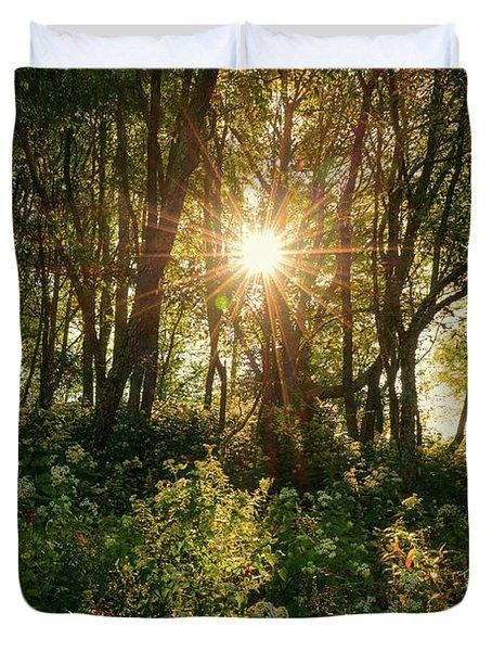 Blue Ridge Parkway - Last Of Summers Light, North Carolina Duvet Cover