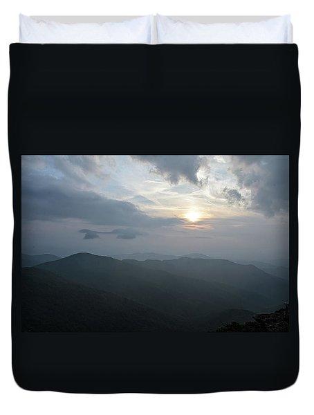 Blue Ridge Parkway Sunset Duvet Cover