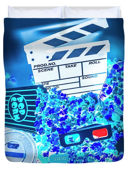 Blue Screen Entertainment Duvet Cover