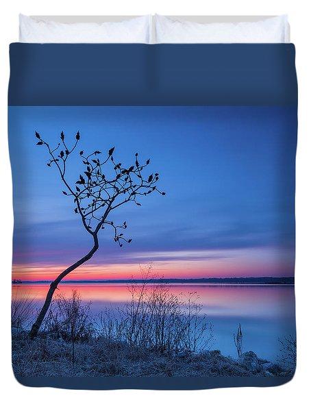 Blue Silence Duvet Cover